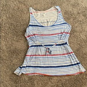 Old navy plus stripped sleeveless top